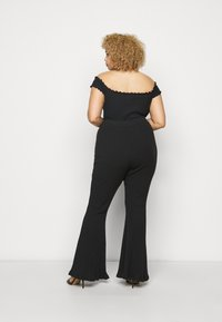 Glamorous Curve - FLARE TROUSERS - Trousers - black - 2