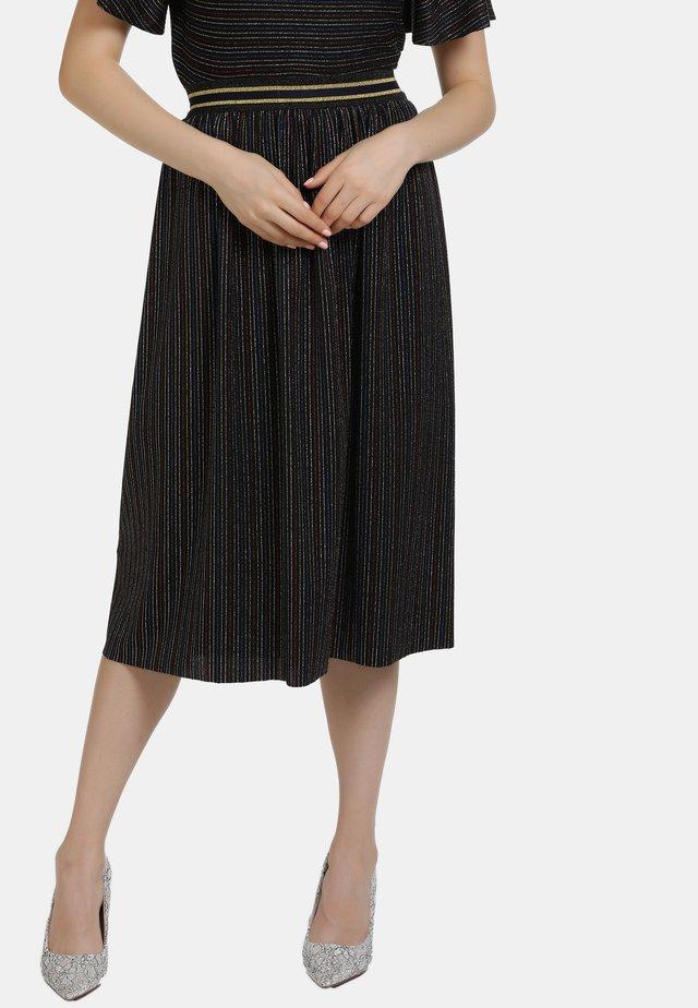 A-line skirt - schwarz multicolor