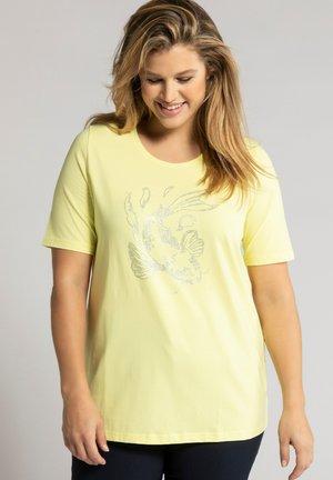 Print T-shirt - helles limonengelb