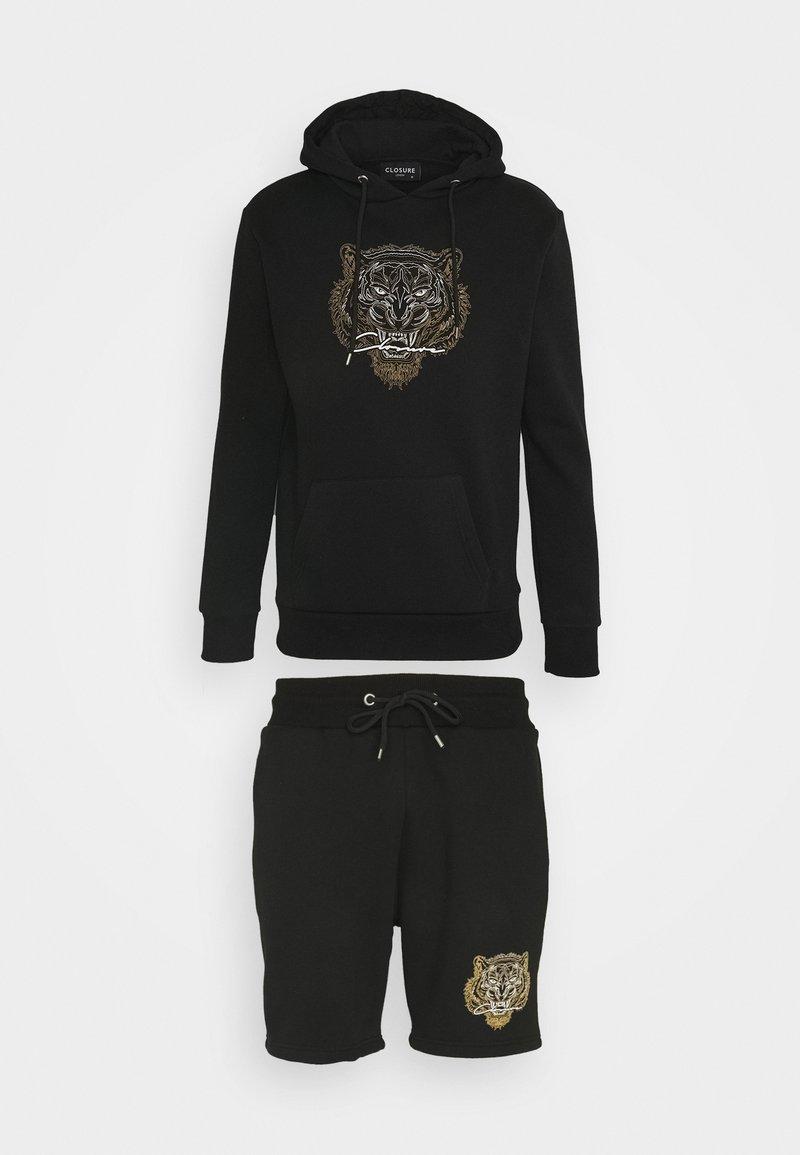 CLOSURE London - TONAL FURY HOODY SET - Sweatshirt - black