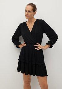 Mango - MOSS7 - Jersey dress - černá - 0