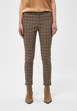 NEW CARMA CHECK - Trousers - misty blue checked