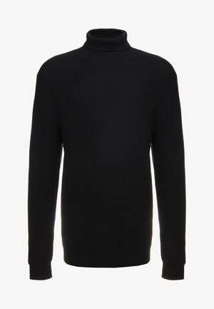 STITCH ROLL NECK PLUS SIZE - Svetr - black