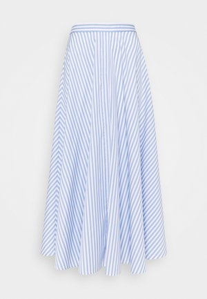 Maxi skirt - blue / white