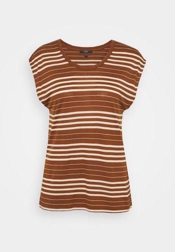 STRIPE TEE - Print T-shirt - toffee