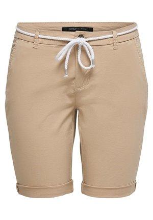 ONLPARIS LONG BELT - Shorts - beige
