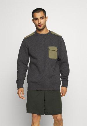 CONTRAST CREW - Športni pulover - anthracite melange