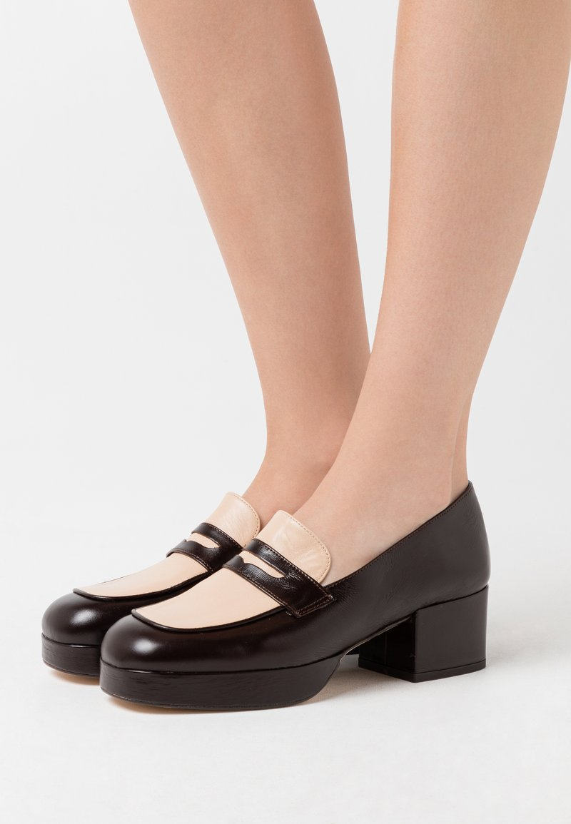 Jonak - FRIPOUILLE - Platform heels - marron/beige