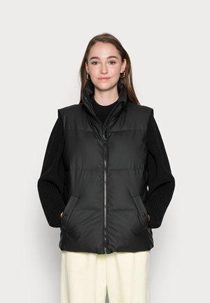 VMGRETA COATED WAISTCOAT  - Waistcoat - black
