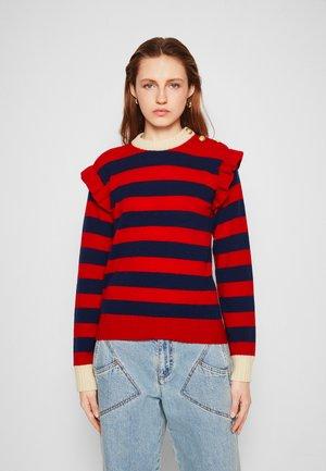 Strickpullover - red/blue
