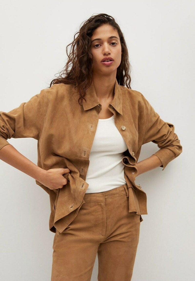 Mango - Button-down blouse - light brown