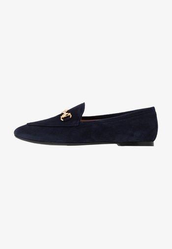 Mocasines - navy blue/oro