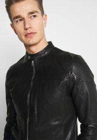 Goosecraft - MADRID BIKER - Leather jacket - black - 3