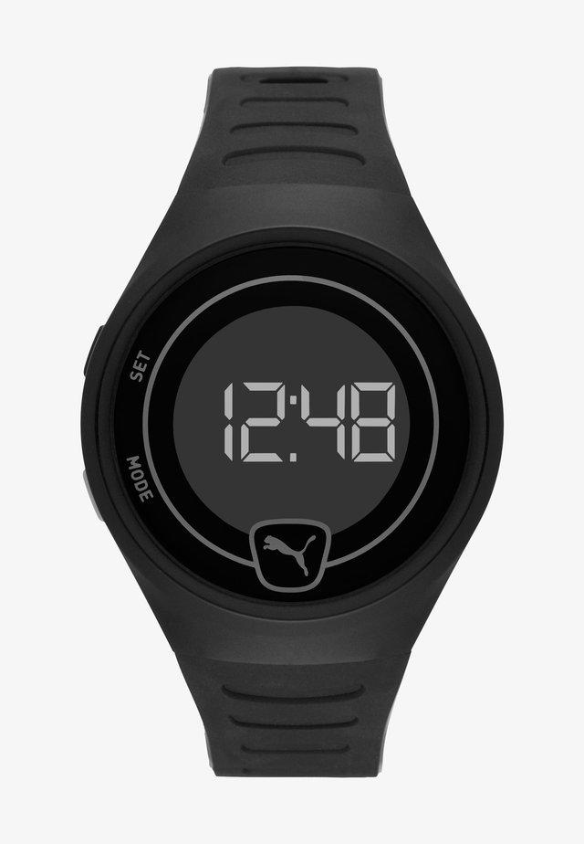 FASTER - Digital watch - black