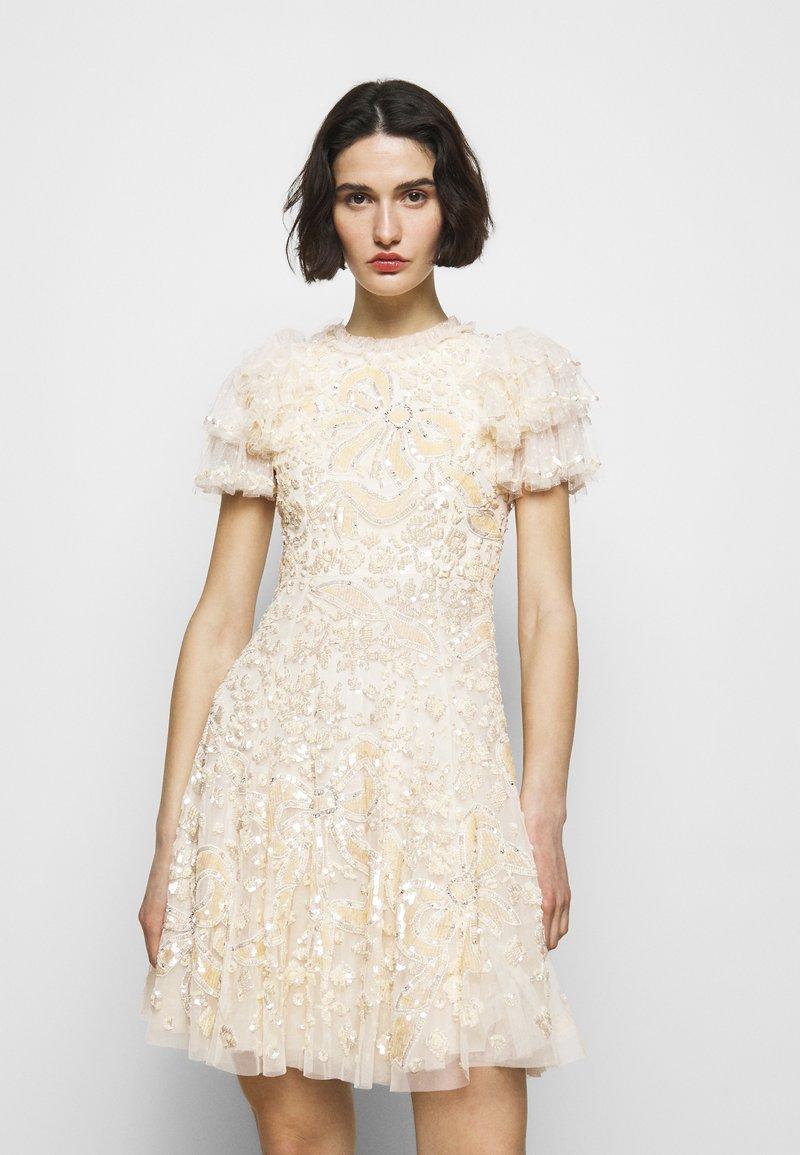 Needle & Thread - SHIRLEY RIBBON MINI DRESS - Koktejlové šaty/ šaty na párty - champagne