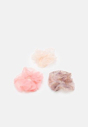 PCJACEY SCRUNCHIE 3 PACK - Hårstyling-accessories - petal pink/pink/purple