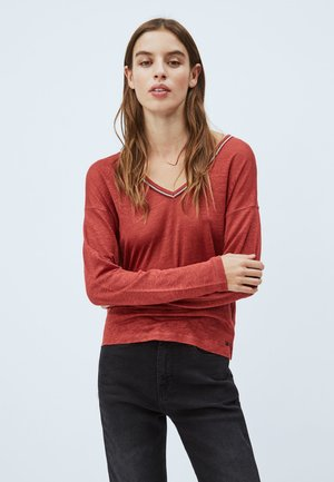 LUCY - Long sleeved top - tibetan red