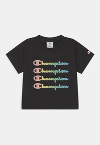 Champion - COLOR LOGO CREWNECK - Camiseta estampada - black - 0