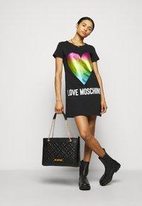 Love Moschino - QUILTED SOFT - Handbag - nero - 0