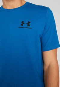 Under Armour - SPORTSTYLE BACK TEE - Print T-shirt - teal vibe/black - 6