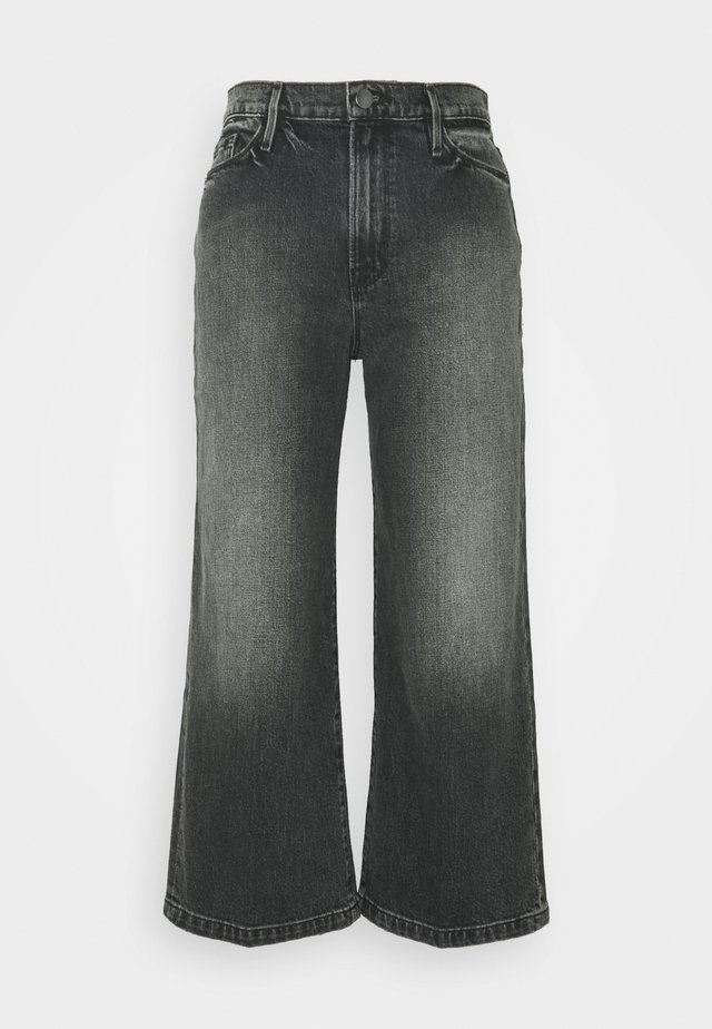 ALI WIDE CROP - Flared Jeans - silverwood