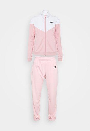TRACK SUIT SET - Mikina na zip - pink glaze/white