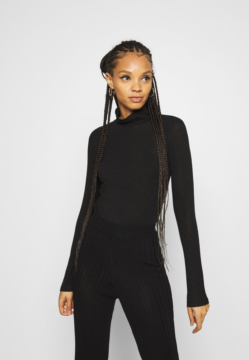 YAS - YASWOOLA - Long sleeved top - black