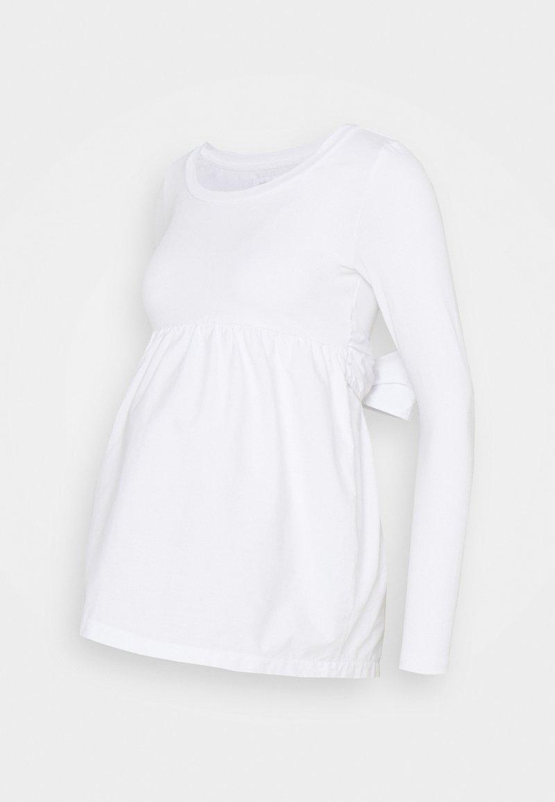 MAMALICIOUS - MLCAROLINA MIX  - Top sdlouhým rukávem - bright white