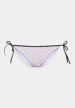 STRING SIDE TIE - Bikini bottoms - white