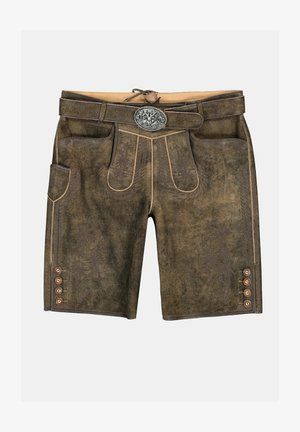 TRADITIONAL FROM GOAT LEVEL - Leather trousers - braun