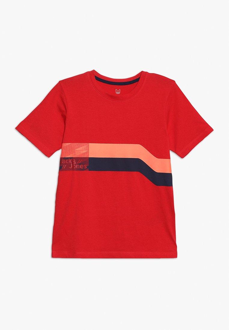 Jack & Jones Junior - JCOSTAIRS TEE CREW NECK JUNIOR - T-shirts print - chinese red