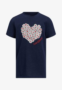 WE Fashion - Print T-shirt - dark blue - 0