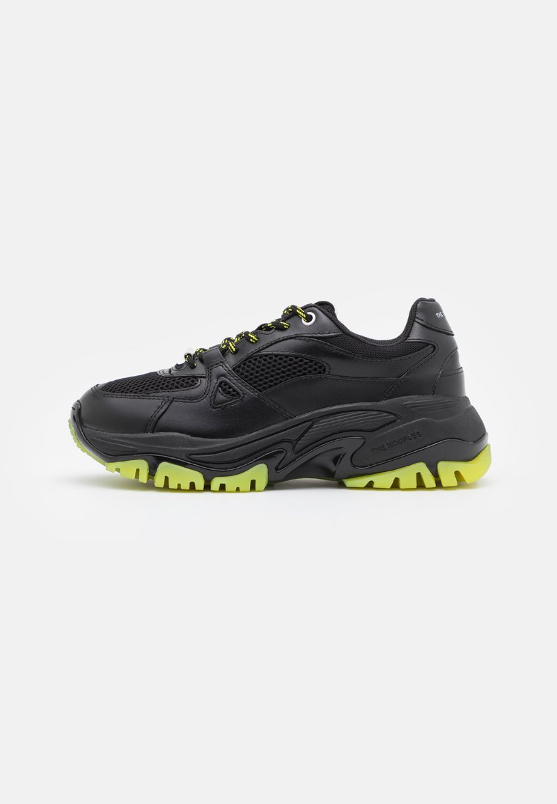 The Kooples - ACCESS SHOES - Trainers - black/yellow
