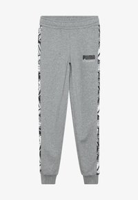 Puma - ALPHA PANTS - Tracksuit bottoms - medium gray heather - 3