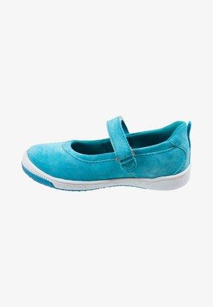 Ankle strap ballet pumps - turquoise