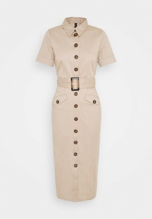 YASTALISA MIDI DRESS - Košilové šaty - light taupe