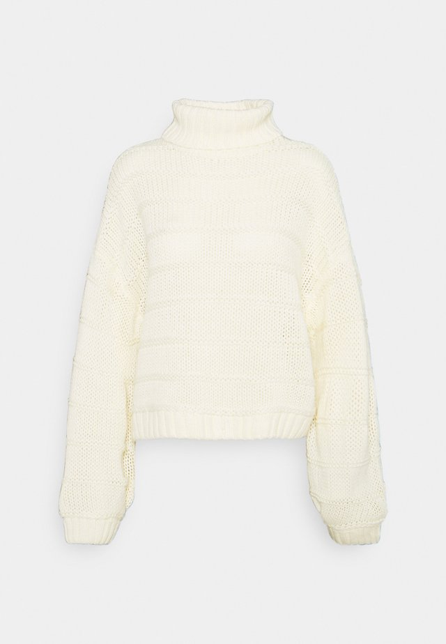 NMWENDY HIGH NECK - Sweter - eggnog