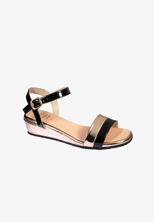 MIT RIEMEN LYDIA - Sandals - schwarz