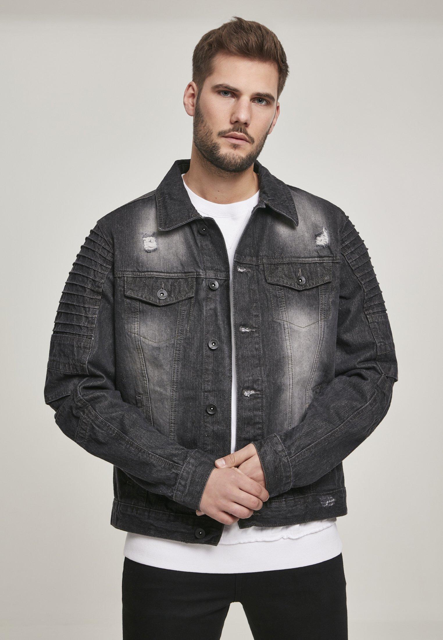 Uomo SOUTHPOLE HERREN BIKER TRUCKER JACKET - Giacca di jeans
