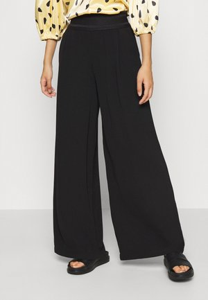 ONLALEX LIFE LONG WIDE PANT - Trousers - black