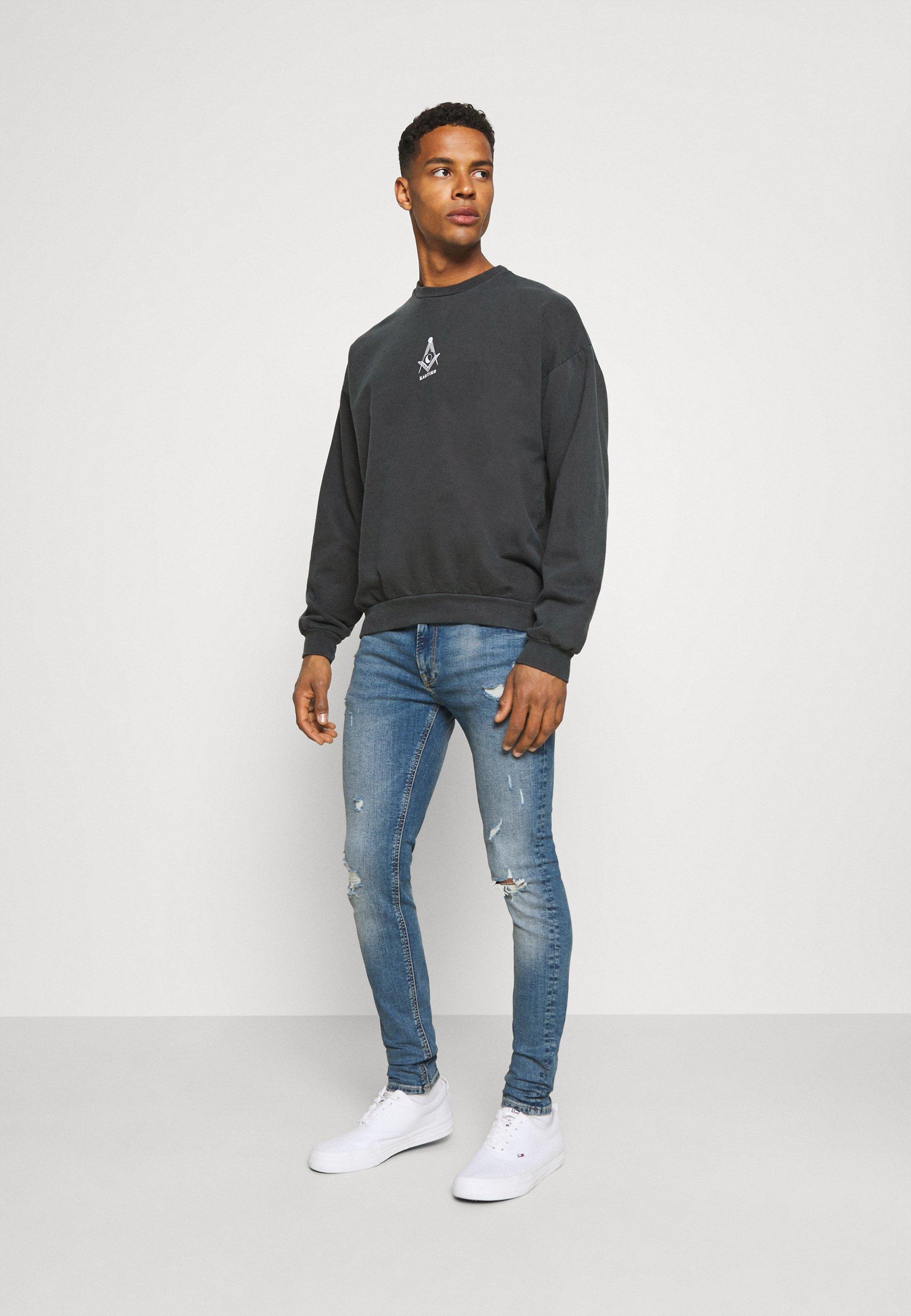Women UNISEX CREW TIE DYE MASON - Sweatshirt