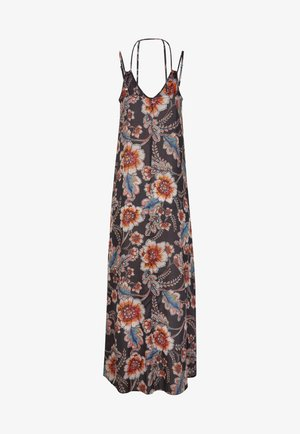 Maxi dress - black with red