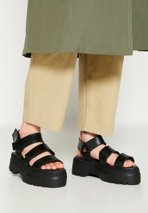 FONSO - Sandalen met plateauzool - black