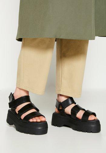 FONSO - Platform sandals - black