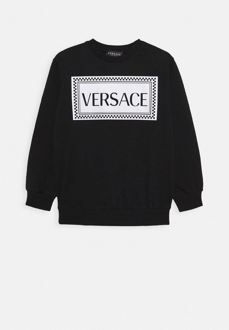 Versace - FELPA - Sweatshirt - nero/bianco opaco