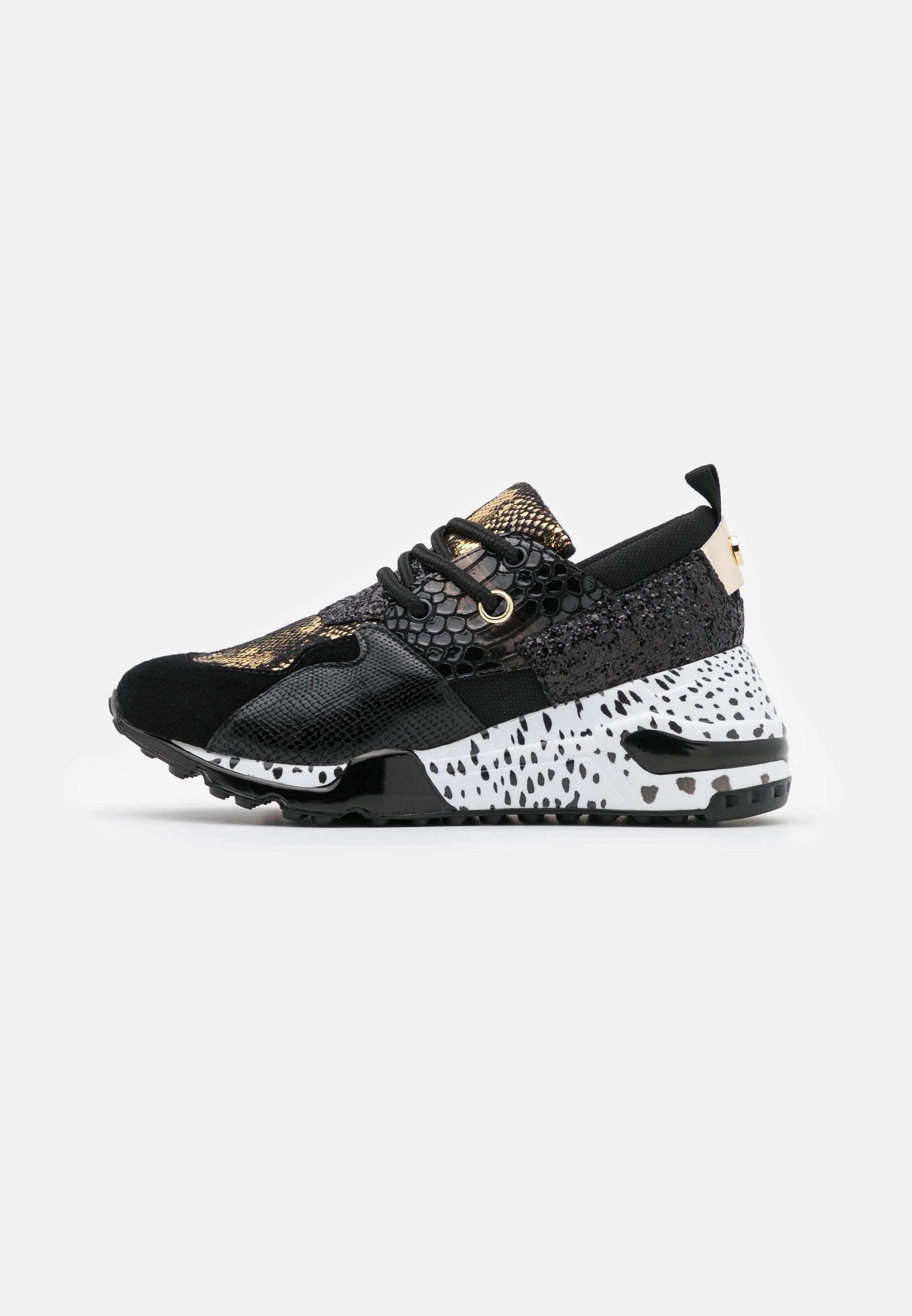 Steve Madden Cliff - Sneaker Low Black/grau-metallic