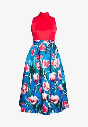 COLLAR FULL SKIRT DRESS - Cocktailkjole - red