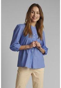 Nümph - Button-down blouse - wedgewood - 0