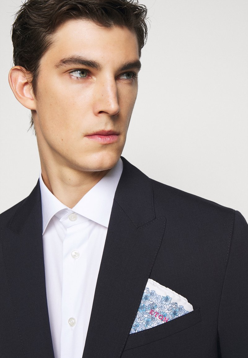 Eton - FLORAL POCKET SQUARE - Poszetka - blue