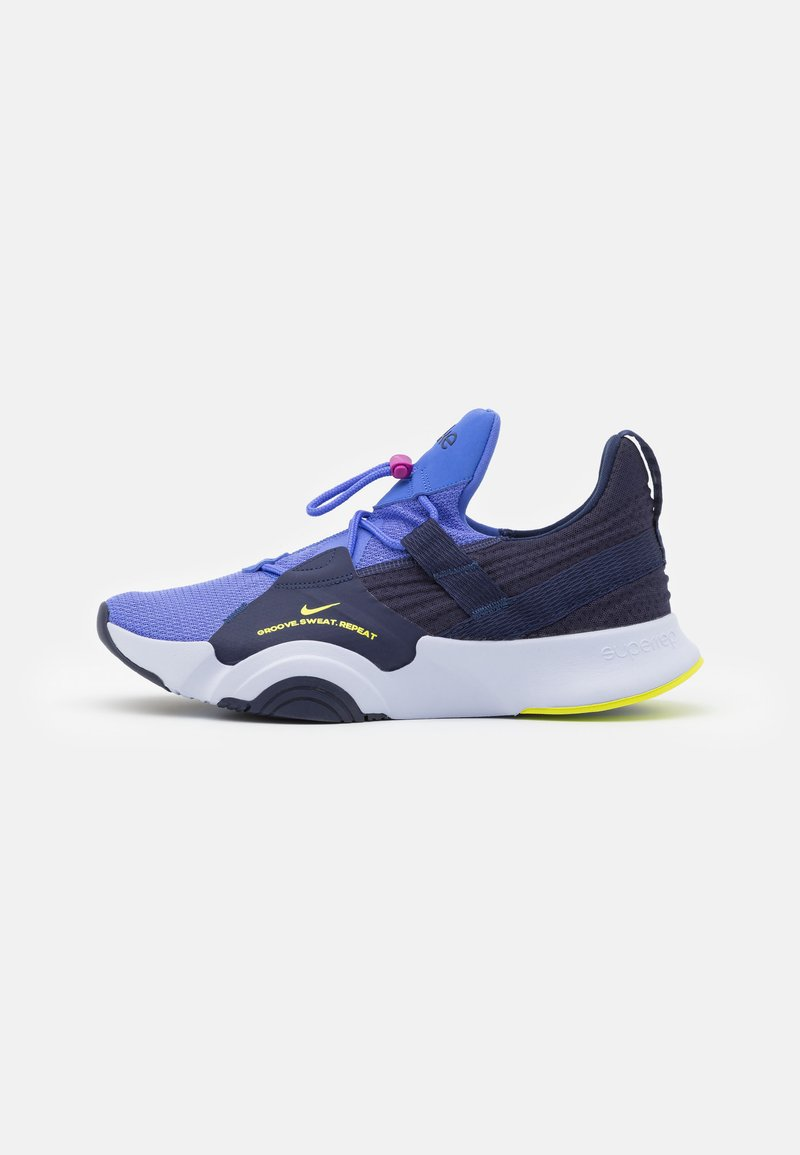 Nike Performance - SUPERREP GROOVE - Sports shoes - blackened blue/cyber/sapphire/ghost